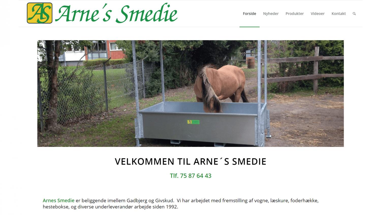 Arnes-smedie.dk har fået lavet sin hjemmeside hos Vitago