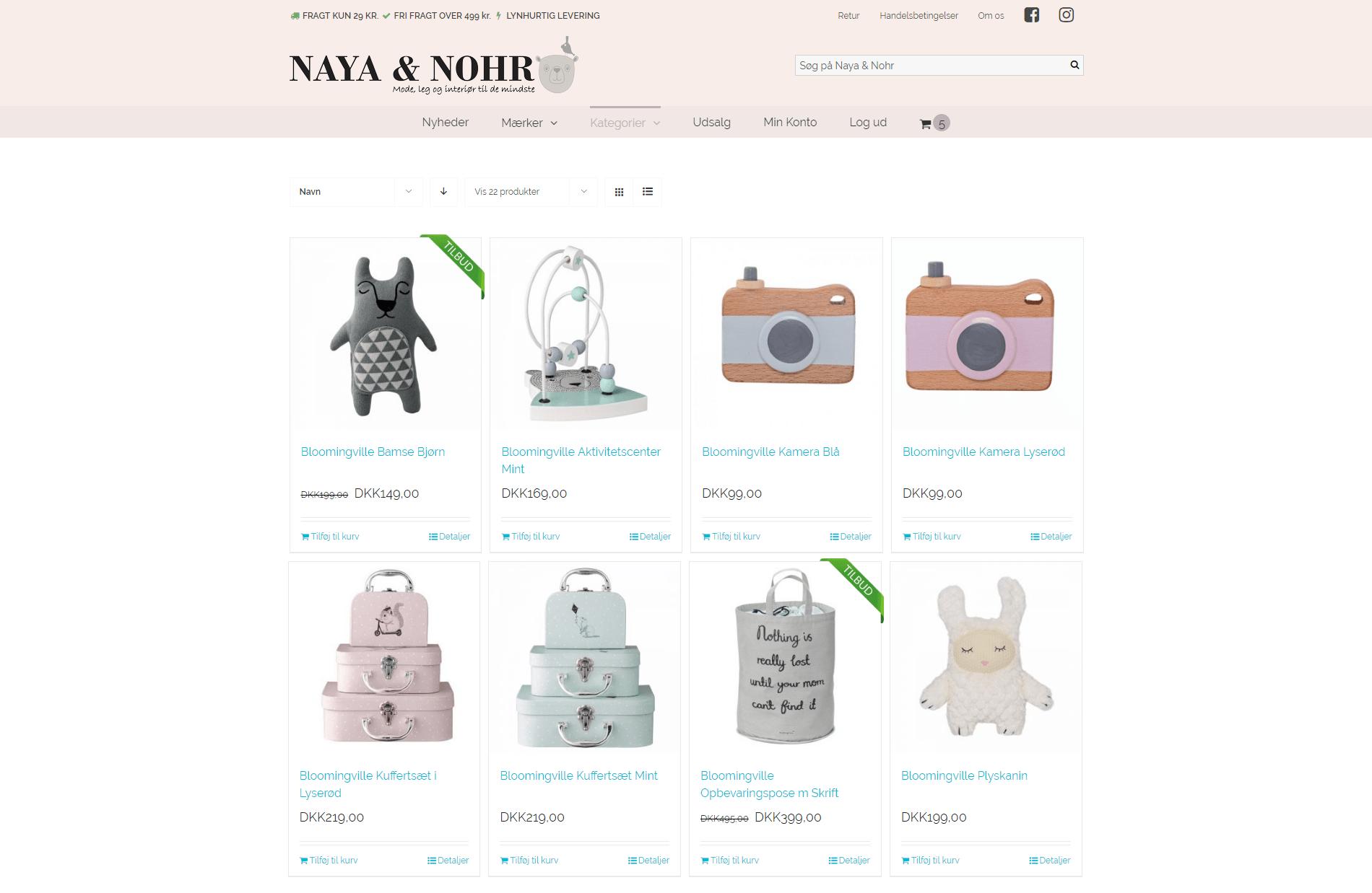 Nayaognohr.dk har fået lavet en flot webshop fra Vitago